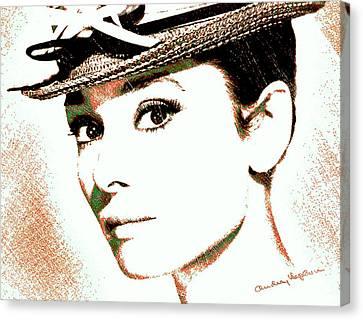 Audrey Hepburn Canvas Print by Dan Sproul