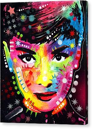 Audrey Hepburn Canvas Print by Dean Russo