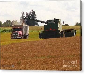 August Harvest Canvas Print by J McCombie