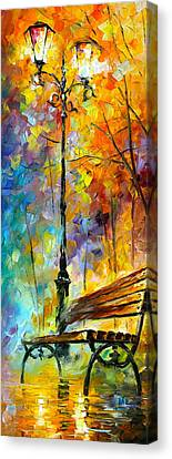 Aura Of Autumn 2 Canvas Print by Leonid Afremov