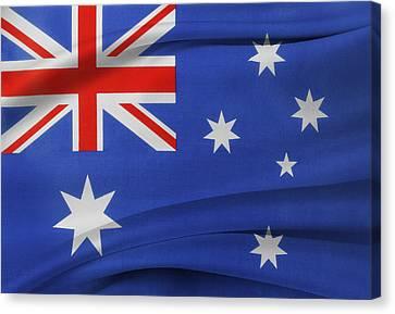 Australian Flag Canvas Print by Les Cunliffe