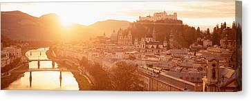 Austria, Salzburg, Salzach River Canvas Print by Panoramic Images
