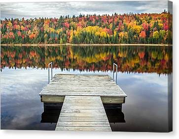 Autumn Reflection Canvas Print by Pierre Leclerc Photography