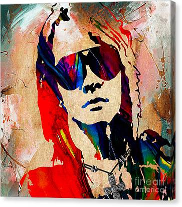 Axl Roxe Collection Canvas Print by Marvin Blaine