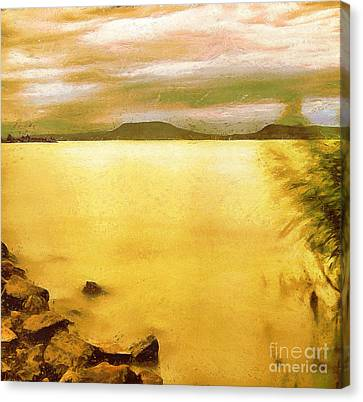 Balaton Landscape Canvas Print by Odon Czintos