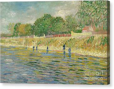 Bank Of The Seine Canvas Print by Vincent van Gogh