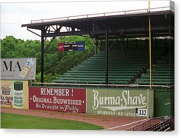 Baseball Field Burma Shave Sign Canvas Print by Frank Romeo