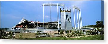 Baseball Stadium In A City, Kauffman Canvas Print by Panoramic Images