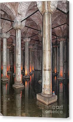 Basilica Cistern 02 Canvas Print by Antony McAulay