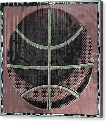 Basketball Abstract Canvas Print by David G Paul