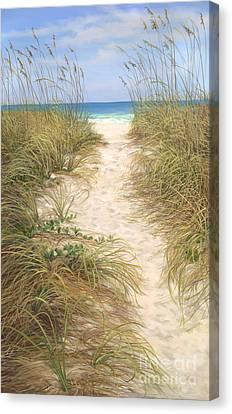Beach Access Canvas Print by Laurie Hein