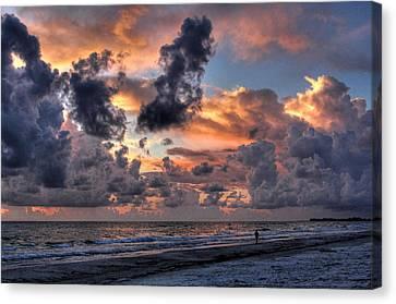 Beach Walk - Florida Seascape Canvas Print by HH Photography of Florida