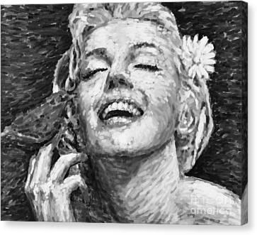 Beautifully Happy Canvas Print by Atiketta Sangasaeng
