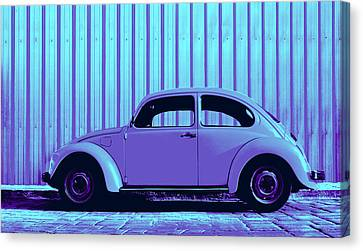 Beetle Pop Lavender Canvas Print by Laura Fasulo