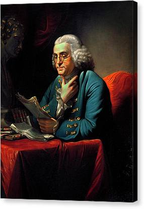 Benjamin Franklin Canvas Print by American Philosophical Society
