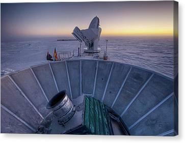 Bicep2 Telescope Canvas Print by Nsf/steffen Richter/harvard University