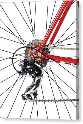 Bicycle Rear Gears Canvas Print by Science Photo Library