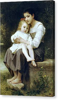 Big Sister Canvas Print by William Bouguereau
