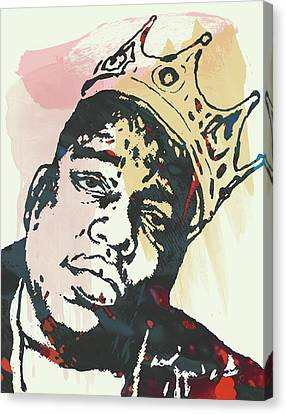 Biggie Smalls Modern Art Drawing Poster Canvas Print by Kim Wang