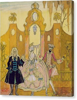 'billet Doux'  Canvas Print by Georges Barbier
