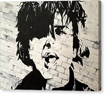 Billie Joe Armstrong Canvas Print by Willow Quillen