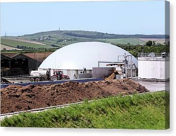 Biomethane Plant Canvas Print by Martin Bond