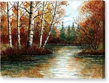 Birch Pond Canvas Print by Steven Schultz
