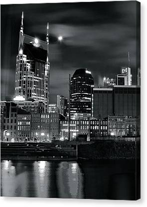 Black And White Nashville Canvas Print by Frozen in Time Fine Art Photography