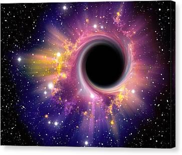 Black Hole Against Starfield Canvas Print by Pasieka