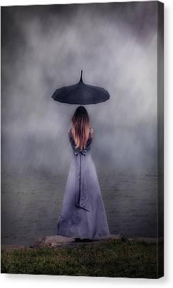 Black Umbrella Canvas Print by Joana Kruse