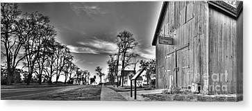Blacksmith Shop In Black And White Canvas Print by Twenty Two North Photography