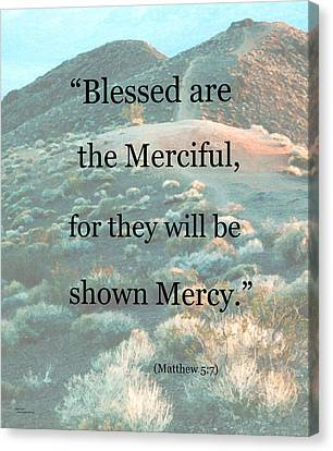 Blessed Are The Merciful Canvas Print by Patricia Januszkiewicz