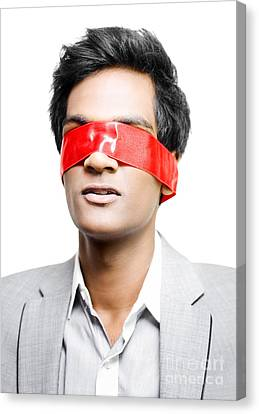 Blinded By Red Tape Or Held To Ransom Canvas Print by Jorgo Photography - Wall Art Gallery