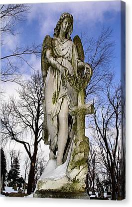 Blissful Angel Canvas Print by Gothicolors Donna Snyder