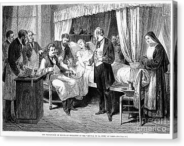 Blood Transfusion, 1874 Canvas Print by Granger