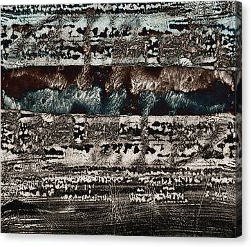 Blue And Black Textures Canvas Print by Carol Leigh