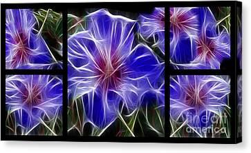 Blue Hibiscus Fractal Canvas Print by Peter Piatt