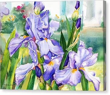 Blue Iris Canvas Print by Patricia Allingham Carlson