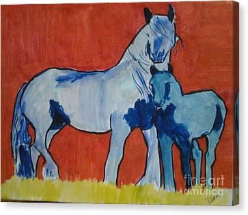 Blue Pintos Canvas Print by Patries Van Dokkum