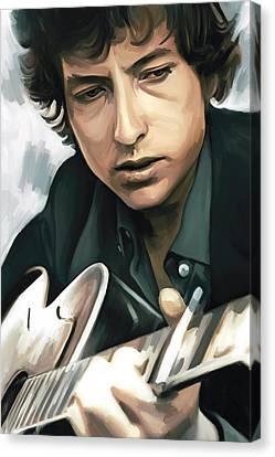 Bob Dylan Artwork Canvas Print by Sheraz A