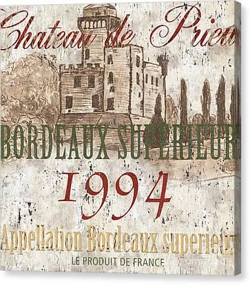 Bordeaux Blanc Label 2 Canvas Print by Debbie DeWitt