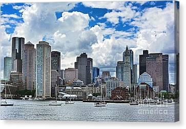 Boston Harbor Canvas Print by Julia Springer