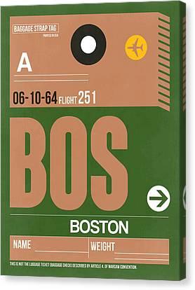 Boston Luggage Poster 1 Canvas Print by Naxart Studio