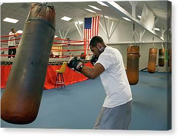 Boxer Training Canvas Print by Jim West