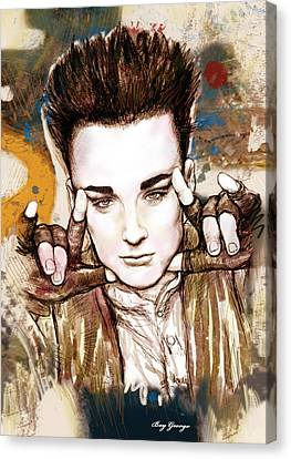 Boy George Stylised Drawing Art Poster Canvas Print by Kim Wang