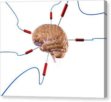 Brain Experiment Canvas Print by Christian Darkin