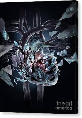 Broken Heart Canvas Print by Jim Dowdalls