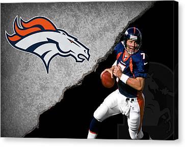 Broncos John Elway Canvas Print by Joe Hamilton