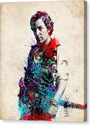 Bruce Springsteen  Canvas Print by Bekim Art