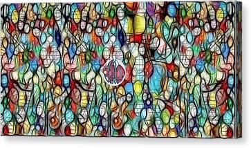 #1 Bubble Series Canvas Print by George Curington